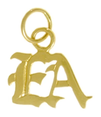 "Emotions Anonymous (EA) Pendant, 14k Gold, Small ""EA"""