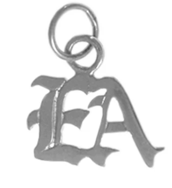 "Emotions Anonymous (EA) Pendant, Sterling Silver, Small ""EA"""