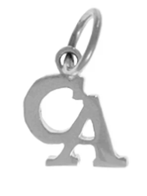 "Cocaine Anonymous Pendant, Sterling Silver, Small ""CA"""