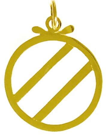 Over Eaters Anonymous (OA) Symbol Pendant, 14k Gold
