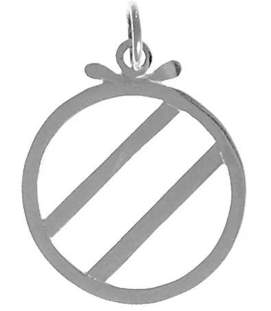 Over Eaters Anonymous (OA) Symbol Pendant, Sterling Silver