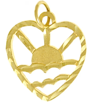 Adult Children of Alcoholics (ACOA) Pendant, 14k Gold Sunrise