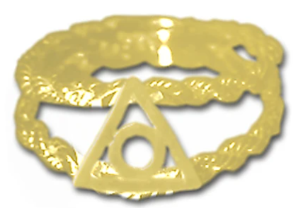 14k Gold, Family Recovery Symbol on a Open Rope Style Band
