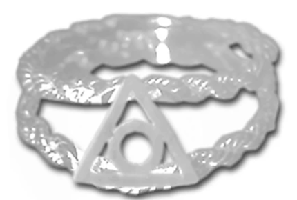 Sterling Al Anon Symbol on a Open Rope Style Band