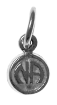 "Sterling Pendant, ""NA"" Initials in a Coin Style, Very Small"