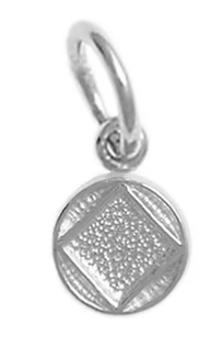 Sterling Silver Pendant, NA Coin Style Symbol, Very Small