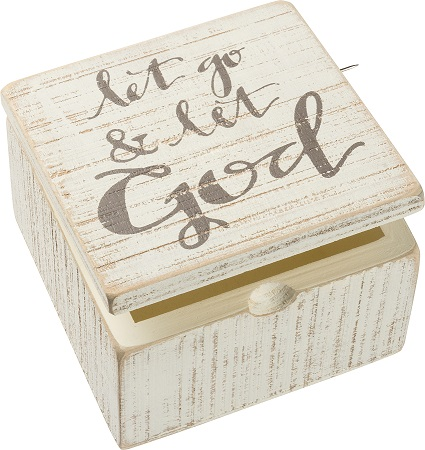 Let Go Let God Hinged Box