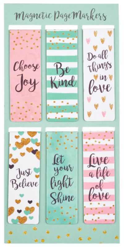 Sparkle Words Magnetic Bookmarks