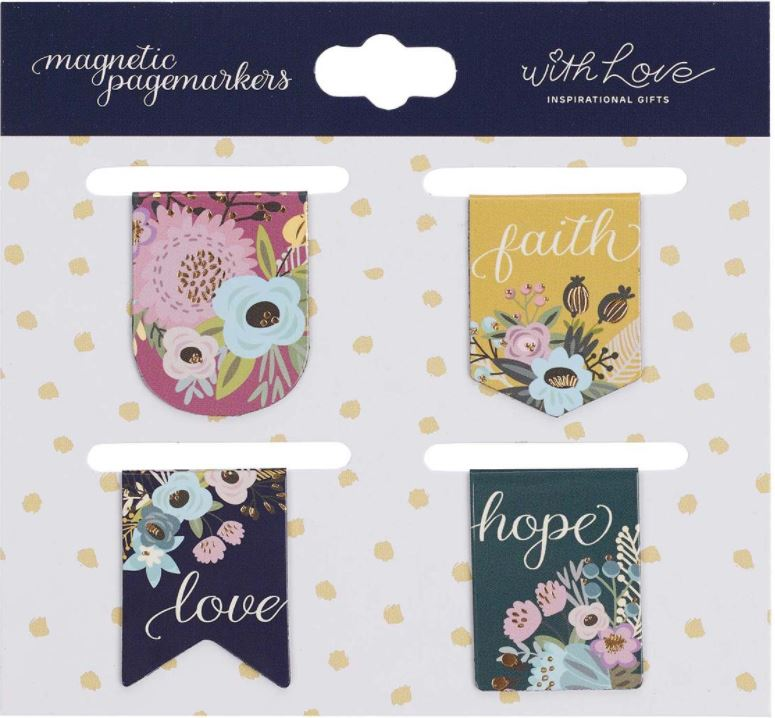 Faith, Hope, Love Magnetic Bookmarks