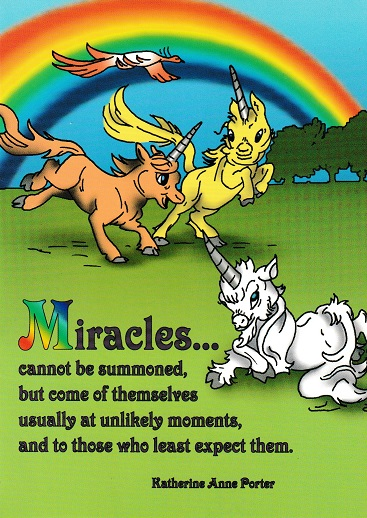Miracles Unicorn Card