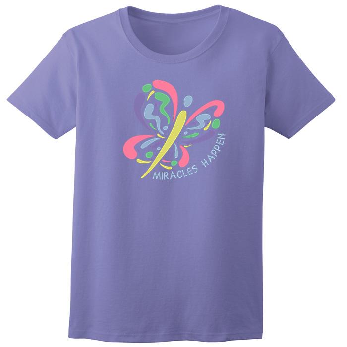 448f2ffa99c6b Miracles Happen Tee - Violet