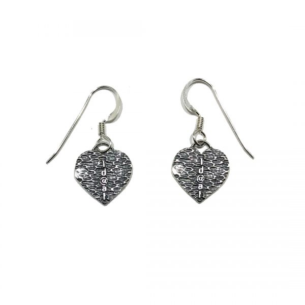 #1D@AT Heart Earrings