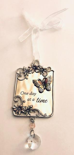 One Day at a Time Butterfly Ornament