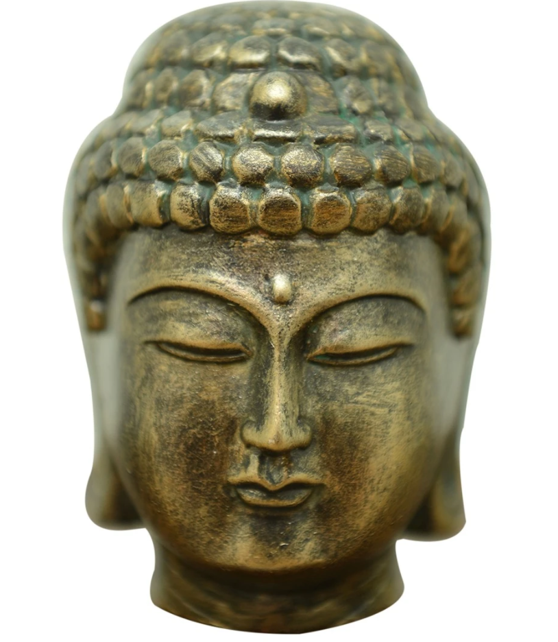Buddha Head - Brass Finish