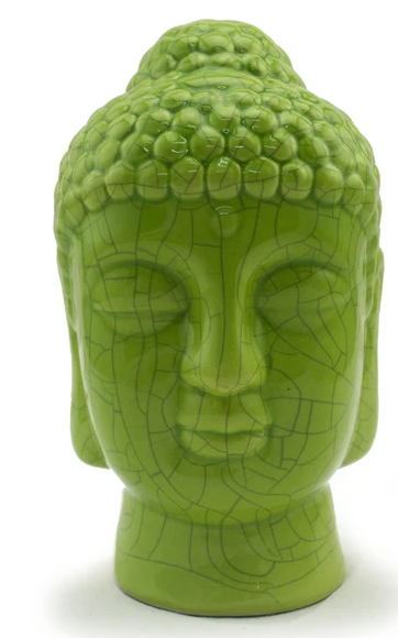 Crackle Ceramic Buddha Head
