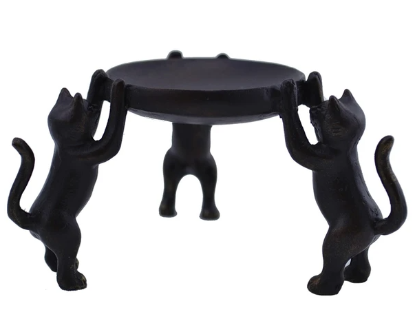 Three Cat Candle Holder