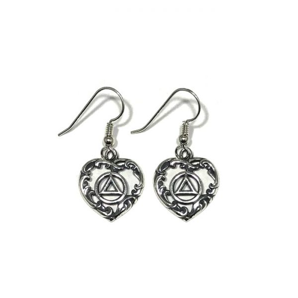 Ornate Heart Symbol Earrings