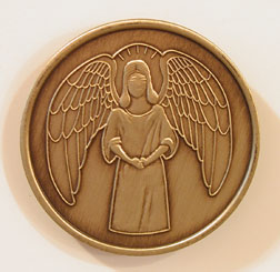 Angel Bronze Medallion