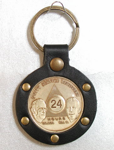 Riveted Leather Key Fob