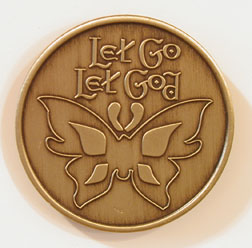 Let Go & Let God Butterfly Bronze Medallion