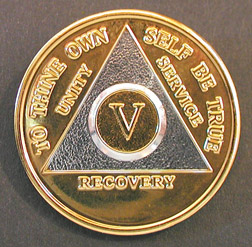 AA Bi-Plate Circle Triangle Anniversary Medallion