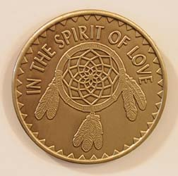Spirit of Love Dream Catcher Bronze Medallion