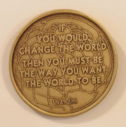 Change the World Bronze Medallion
