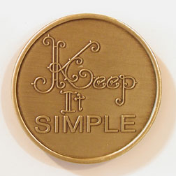 Keep It Simple Bronze Medallion