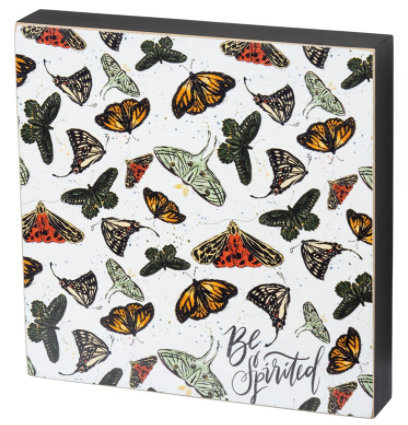 Be Spirited Butterfly Wood Block