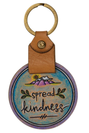 Spread Kindness Wooden Keyring