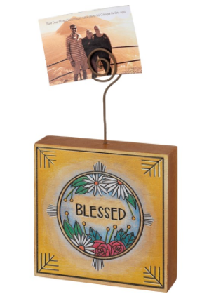 Blessed Wooden Photo Block