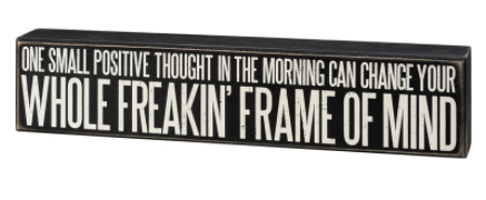 Frame of Mind Box Sign
