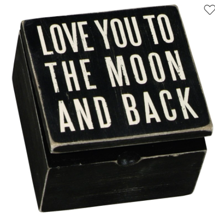 Love You to the Moon and Back Hinged Box