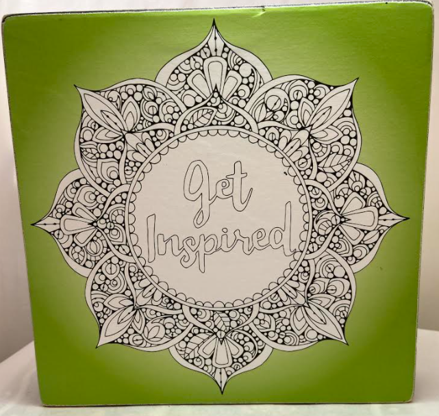 Get Inspired Coloring Box Sign