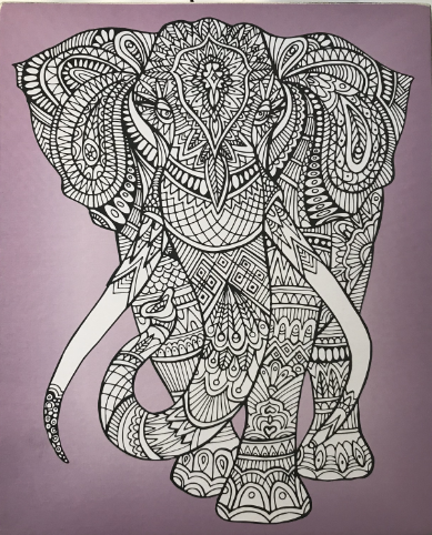 Color-In Elephant Box Sign