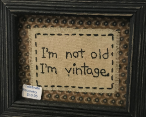 I'm Not Old, I'm Vintage Framed Stitchery