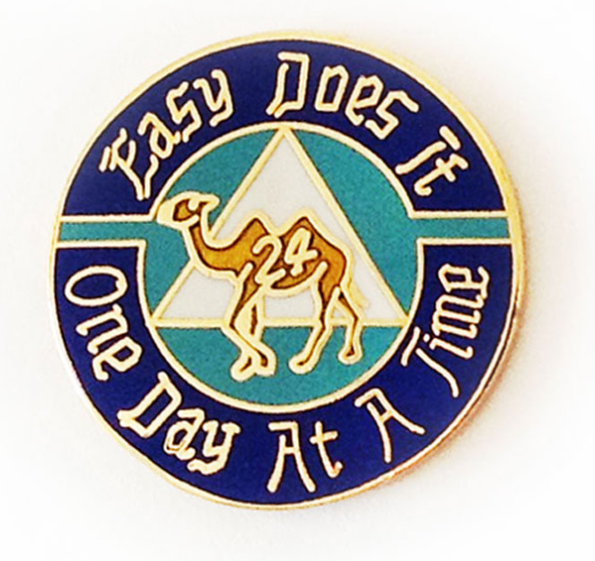 Easy Does It / One Day at a Time Camel Pin