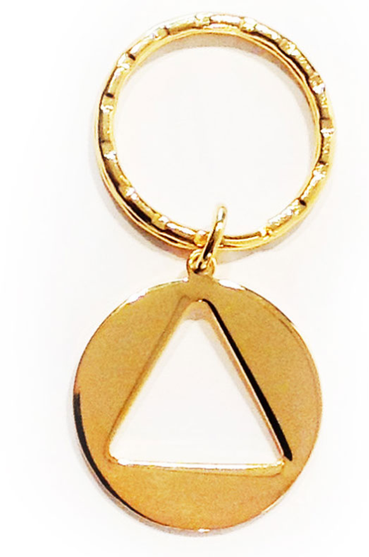 Circle Triangle AA Metal Keyring