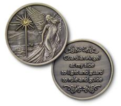 Guardian Angel with Stone Coin
