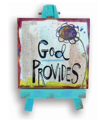 God Provides Mini Easel