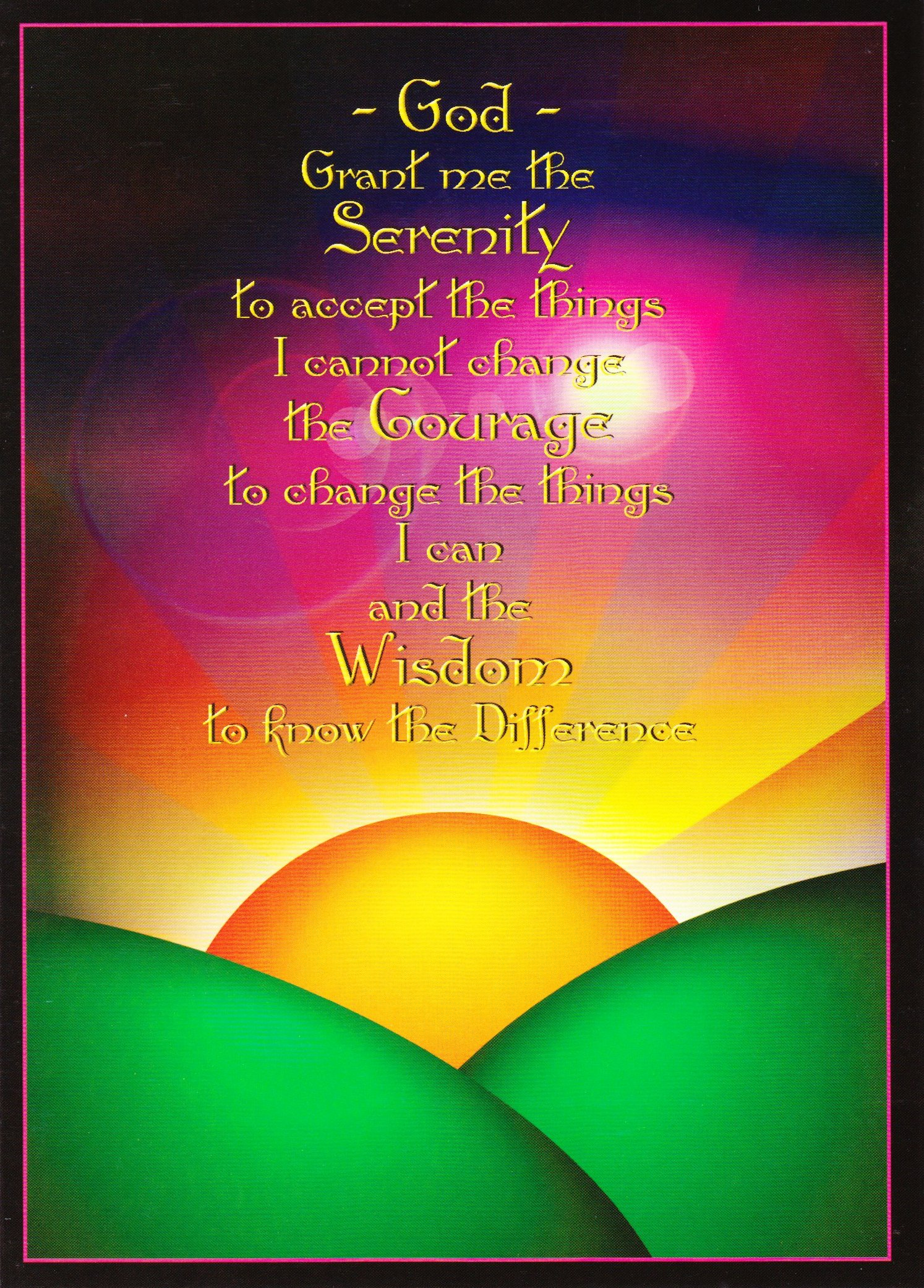 Serenity Prayer Card 2