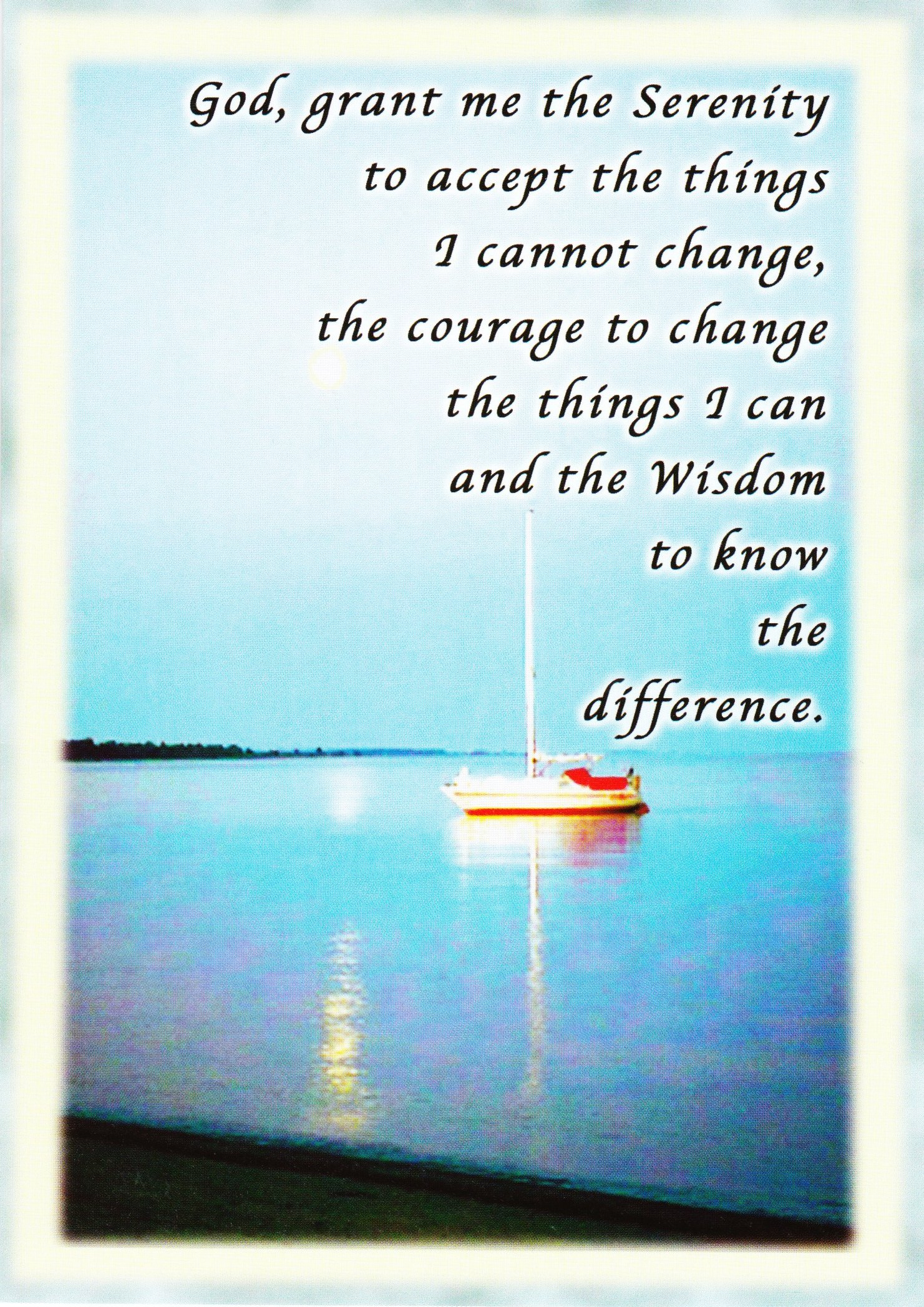 Serenity Prayer Card 3