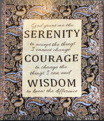 Serenity Prayer Cotton Throw (Paisley)