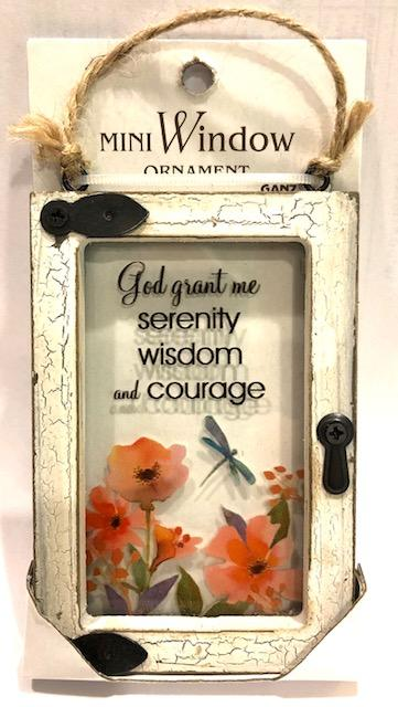 Serenity Prayer Window Ornament