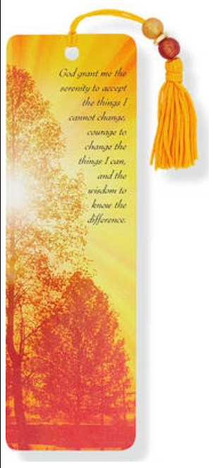 Serenity Prayer with Trees Bookmark