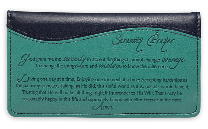 Serenity Prayer Check Book Cover