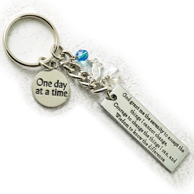 Serenity Prayer Keyring with Charms