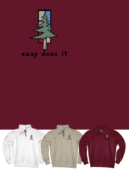Easy Does It Quarter-Zip Maroon XXL