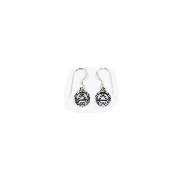 AA Symbol Scroll Earrings