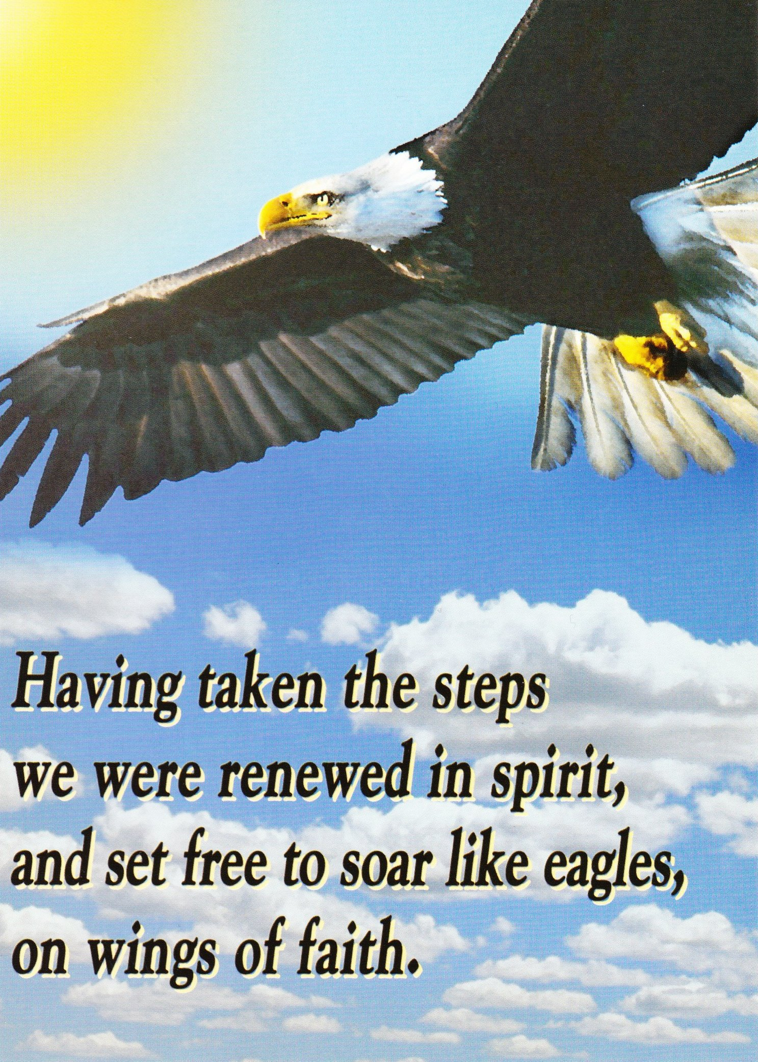 Soar Like Eagles Card